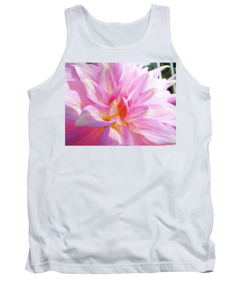 Dahlia Tank Top featuring the photograph Master Gardeners Pink Dahlias Art Prints Baslee Troutman by Baslee Troutman