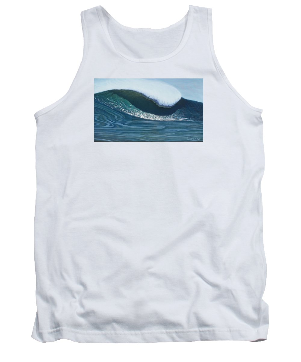 Seascape Tank Top featuring the relief Mavericks by Nathan Ledyard