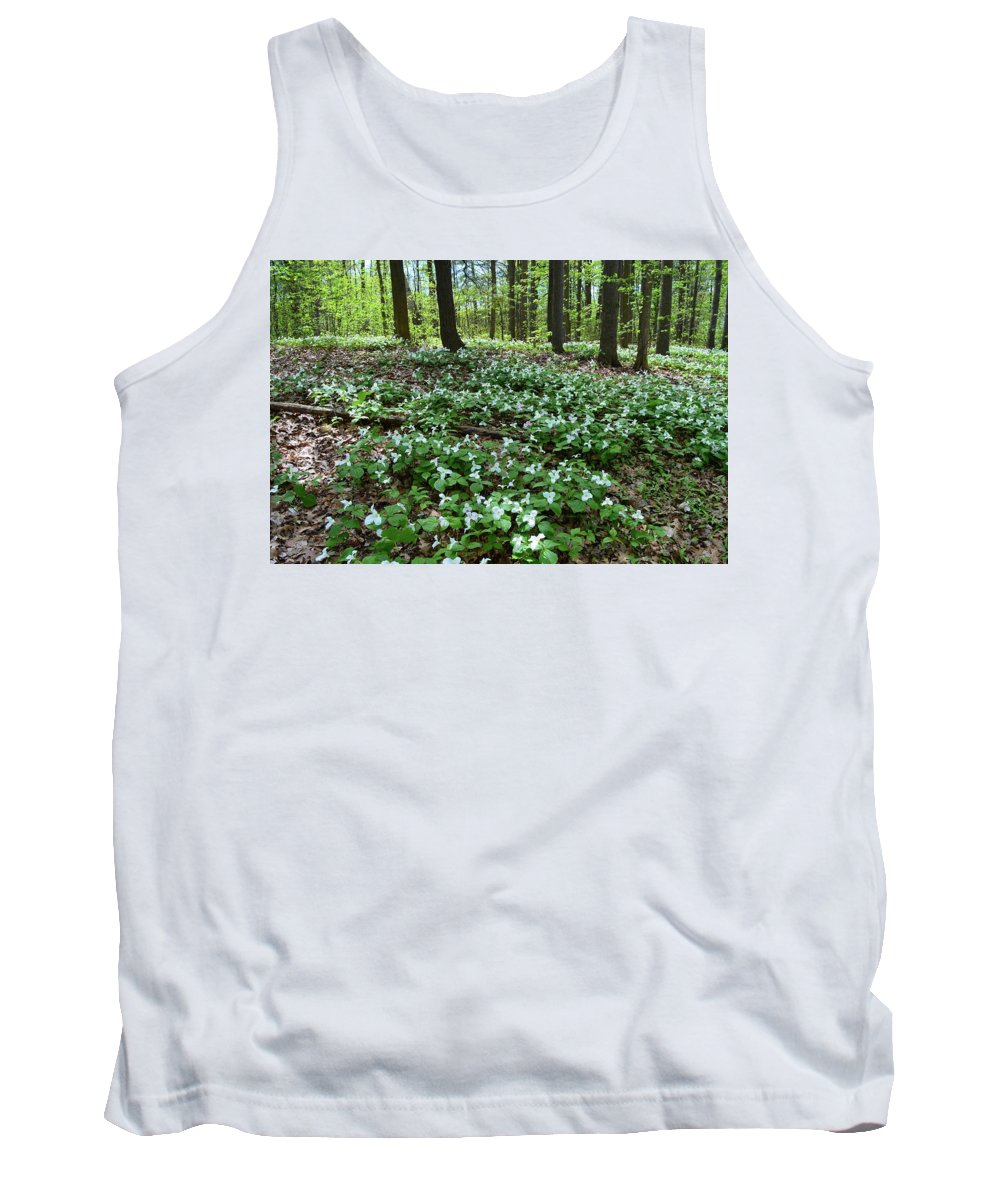 Abstract Tank Top featuring the photograph May 19-2017 At Sunnydale Park by Lyle Crump