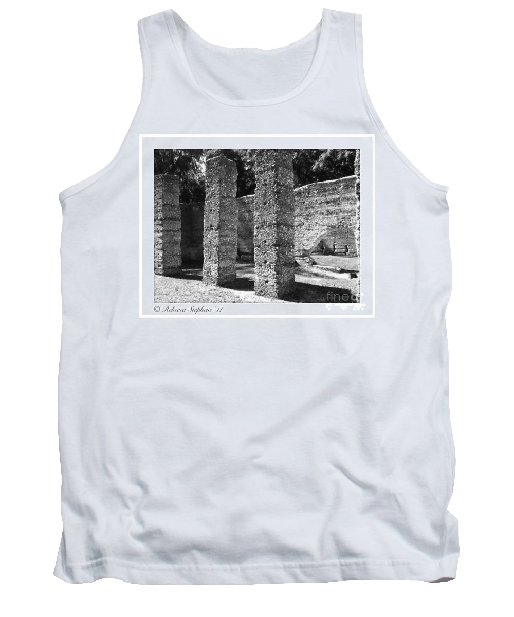 Tabby Tank Top featuring the photograph Mcintosh Sugar Mill Tabby Ruins 1825 by Rebecca Stephens