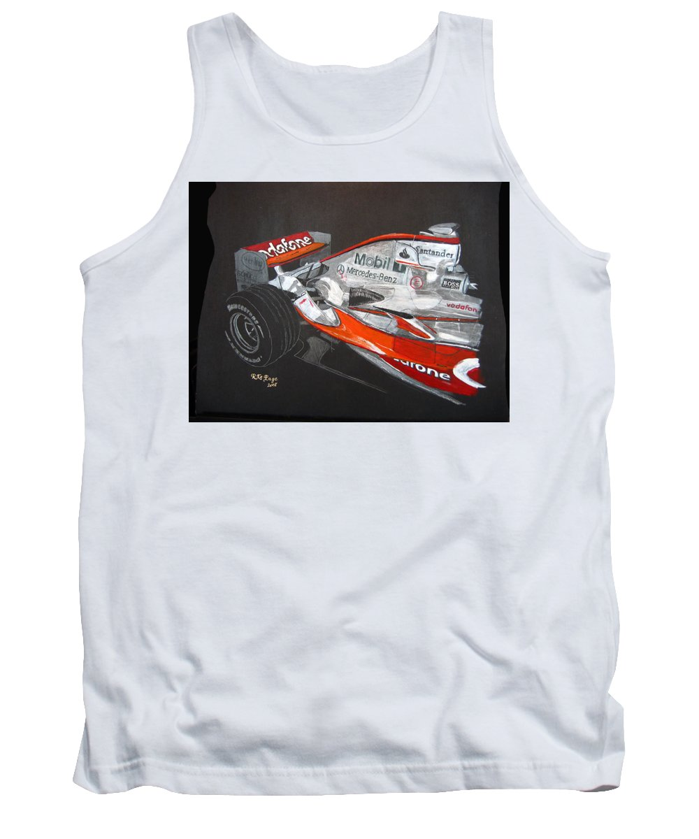 Mclaren Tank Top featuring the painting Mclaren F1 Alonso by Richard Le Page