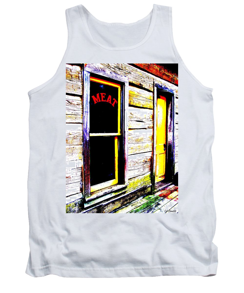 Meat Tank Top featuring the photograph Meat Market by Ed Smith