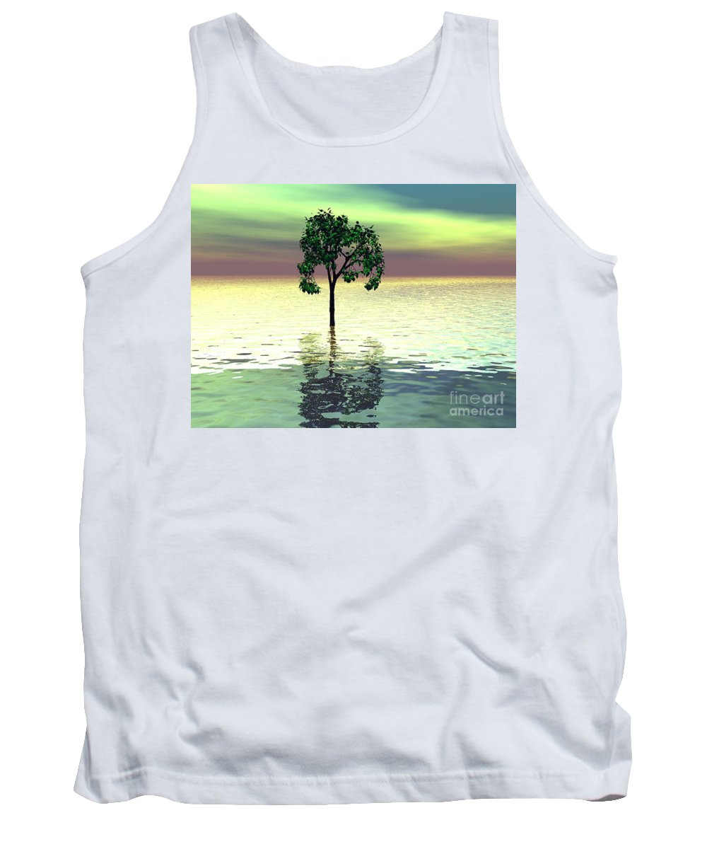 Decorative Tank Top featuring the digital art Meditation by Oscar Basurto Carbonell