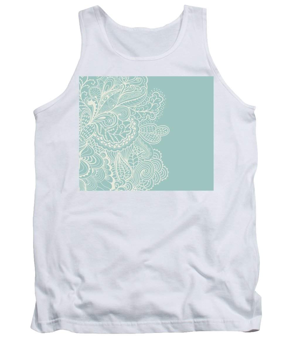 Mehndi Tank Top featuring the digital art Mehndi by Susan Link