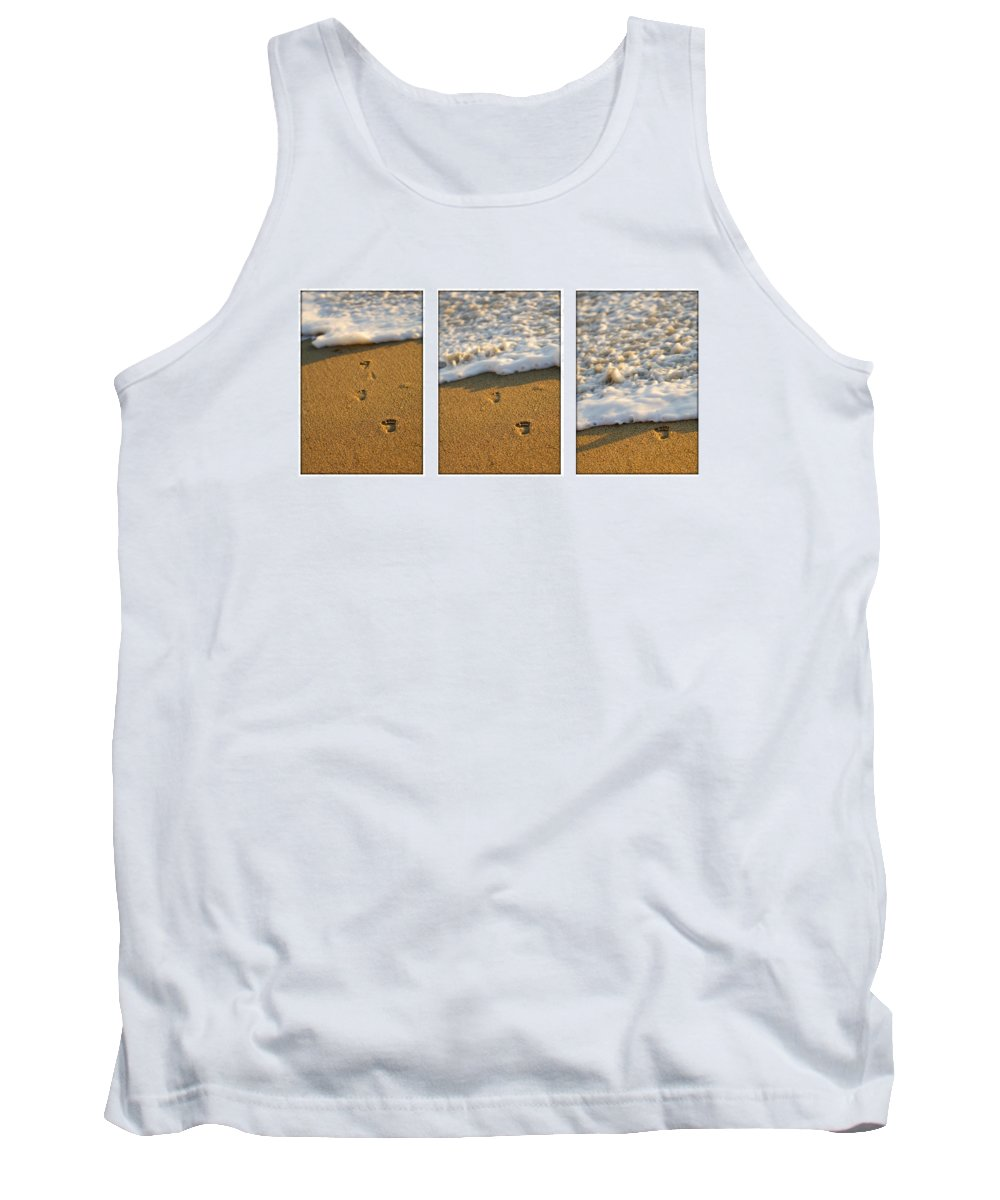 Beach Tank Top featuring the photograph Memories Washed Away by Jill Reger