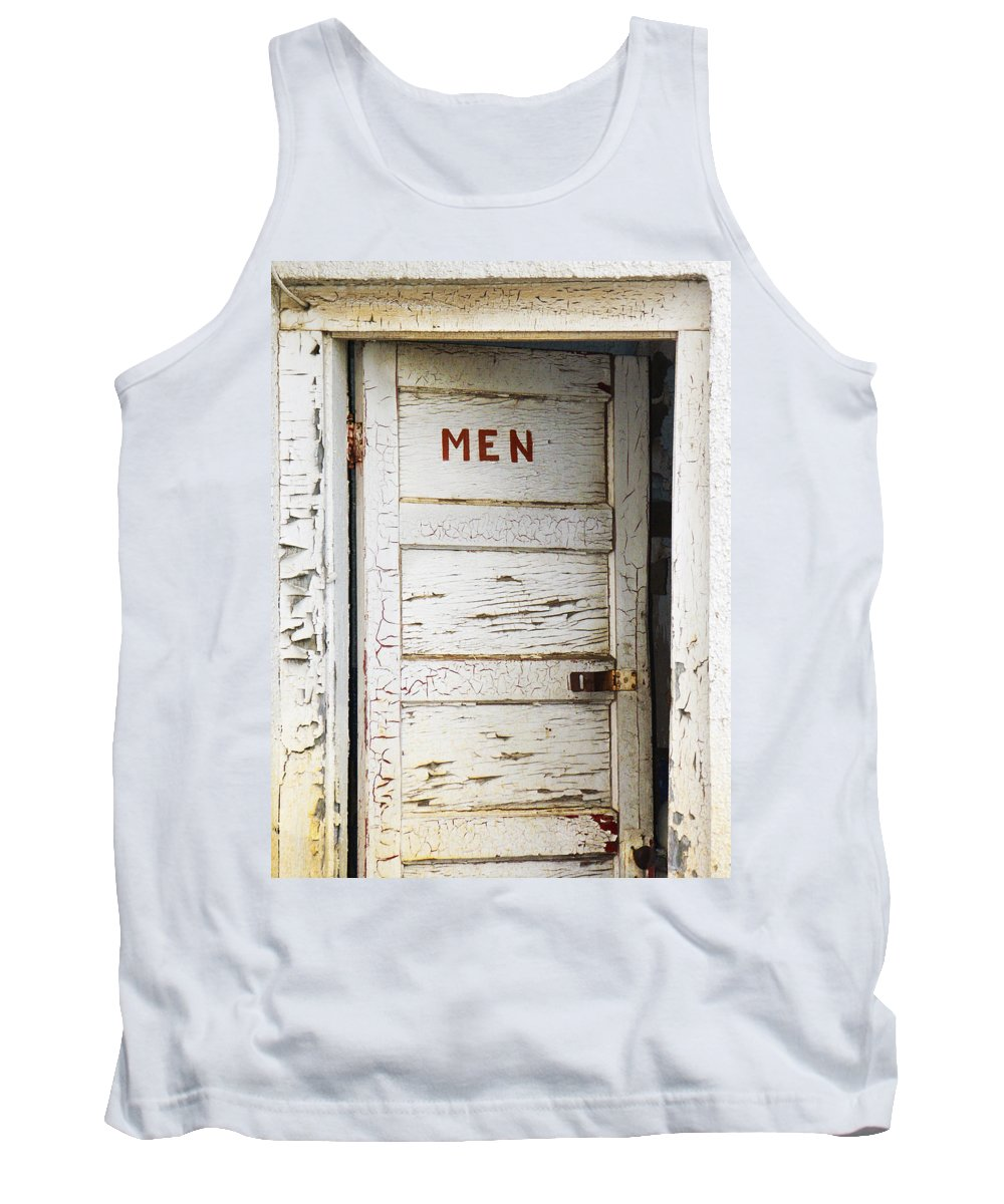 Men's Room Tank Top featuring the photograph Men's Room by Marilyn Hunt