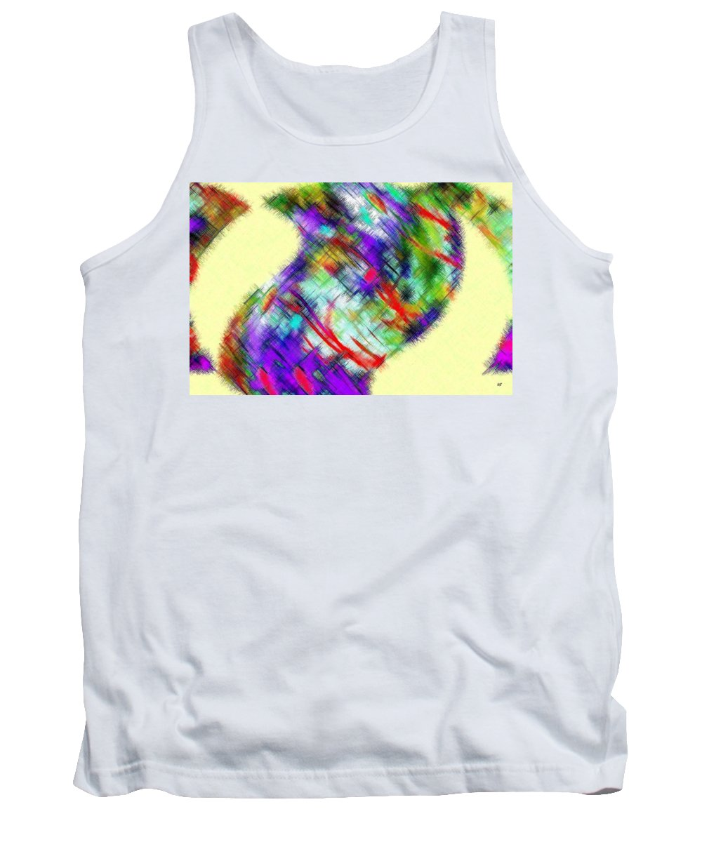 Micro Linear Tank Top featuring the digital art Micro Linear 20 by Will Borden