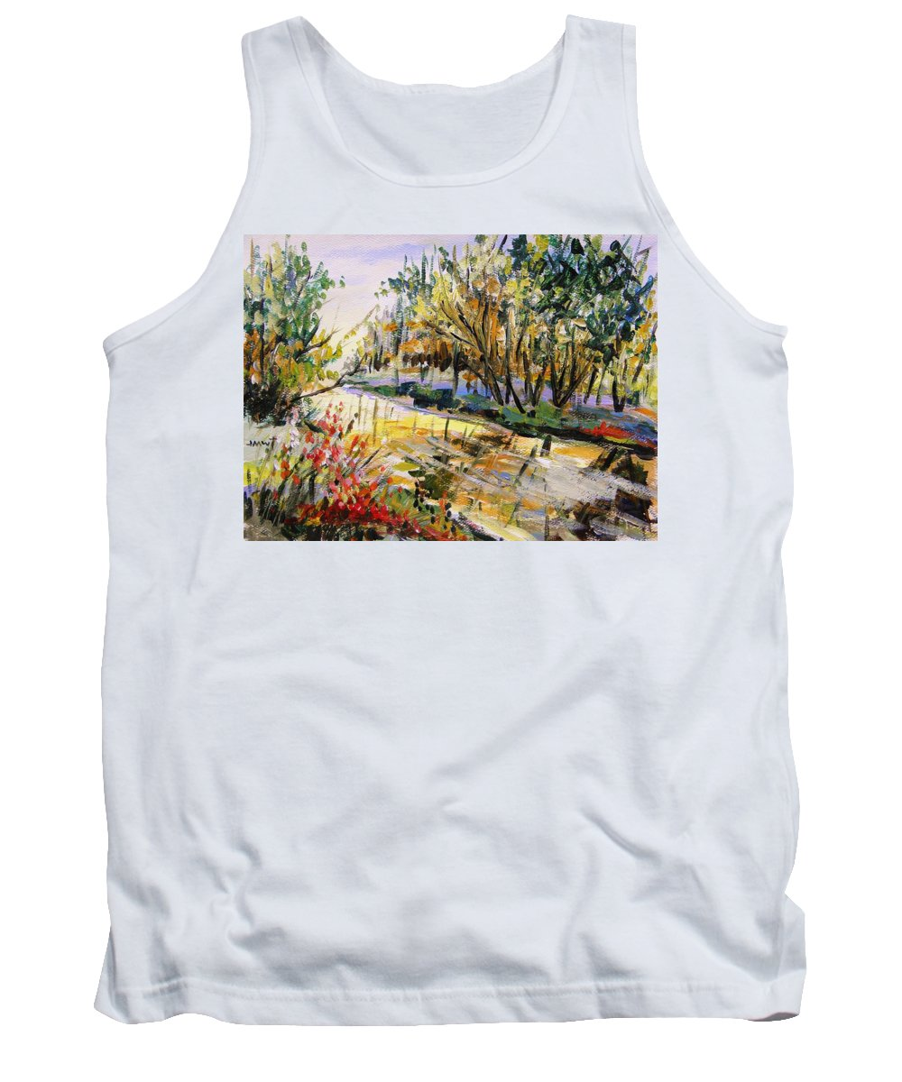 John Williams Tank Top featuring the painting Mid-morning Light by John Williams