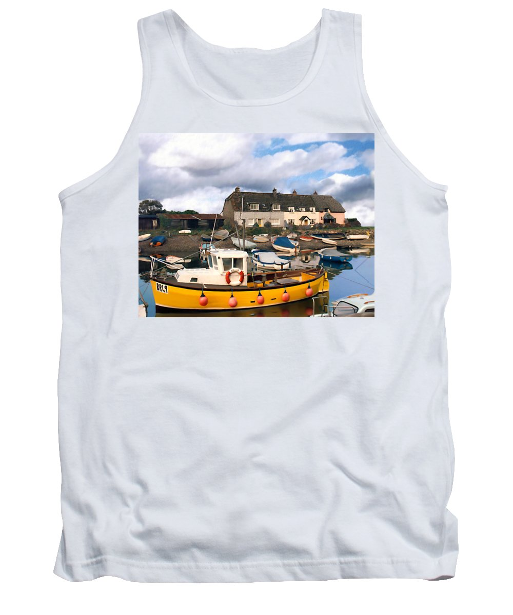Harbor Tank Top featuring the photograph Minehead Sommerset by Kurt Van Wagner