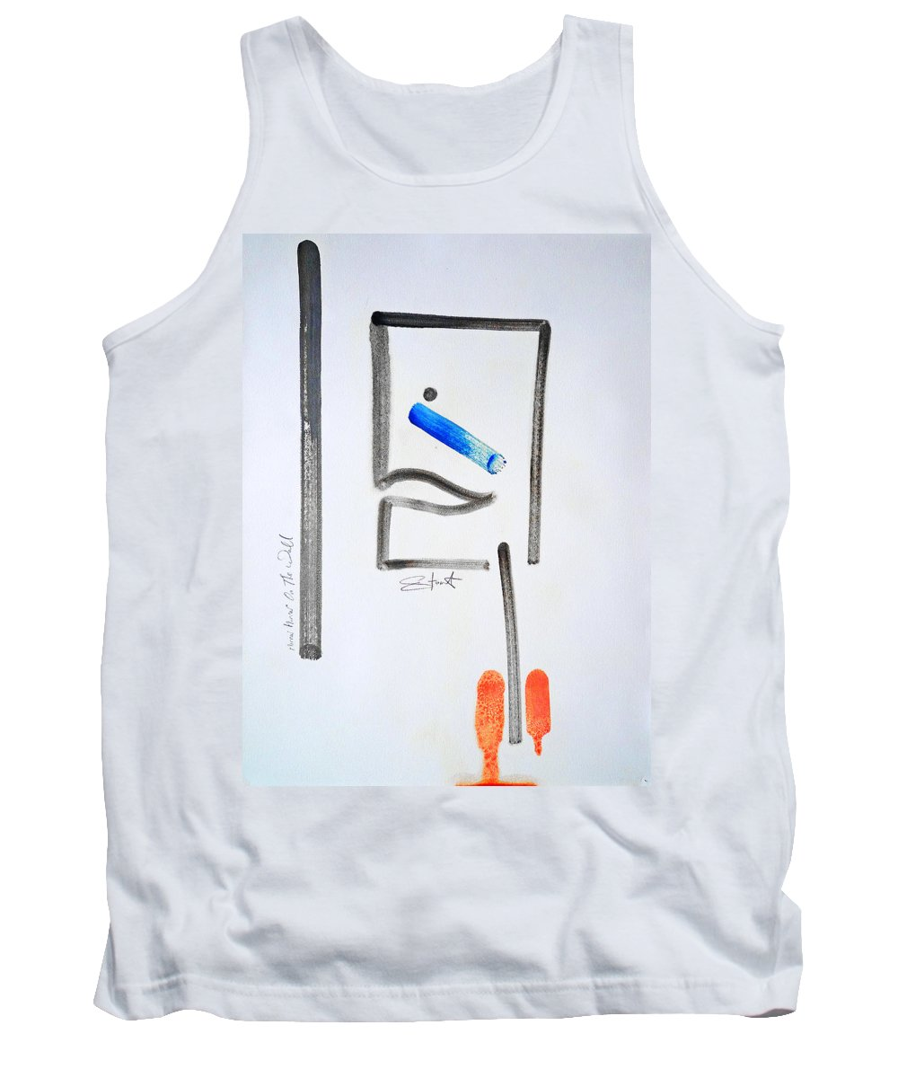 Drawing Tank Top featuring the painting Mirror Mirror On The Wall by Charles Stuart