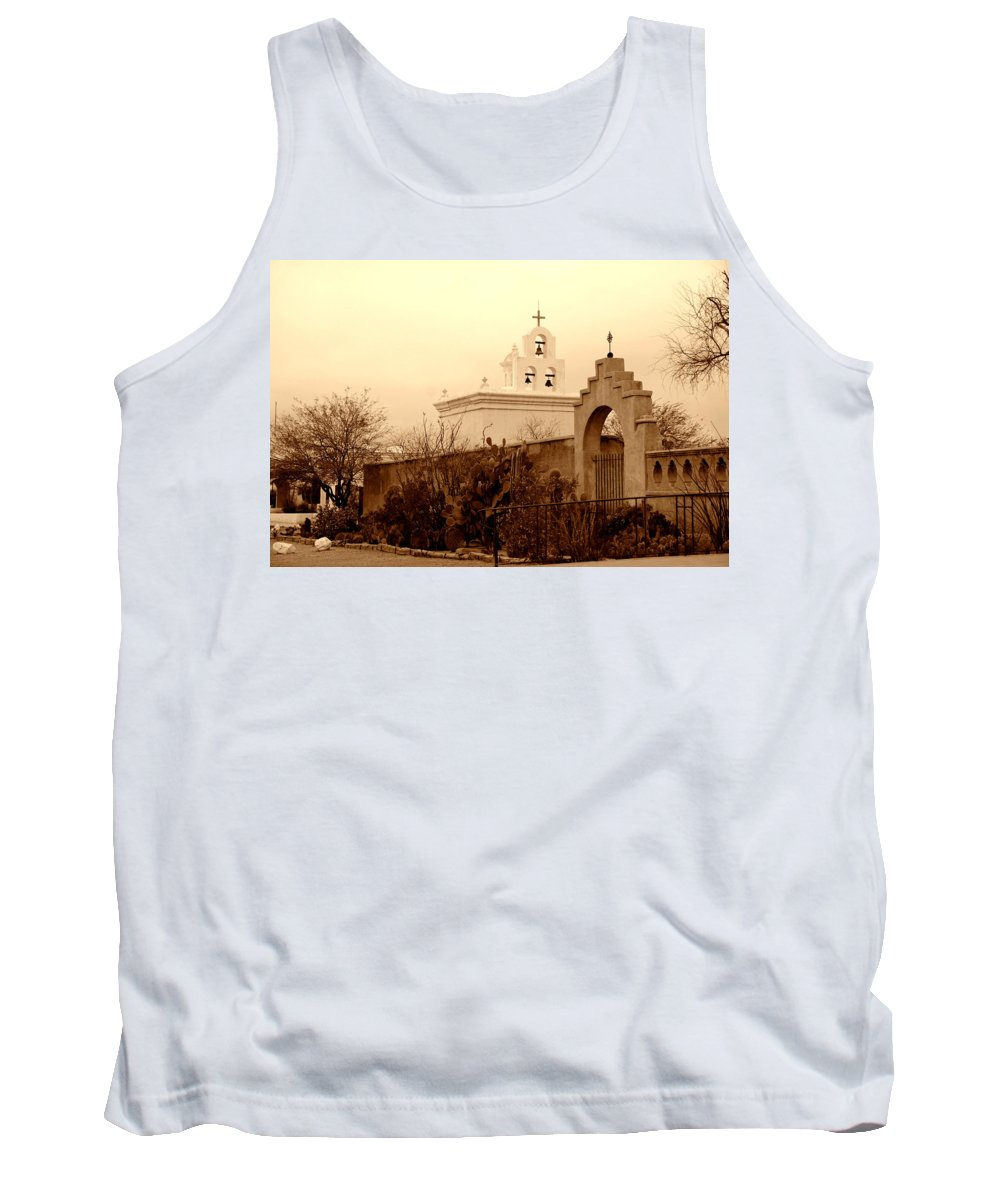 Photography Tank Top featuring the photograph Mission San Xavier Chapel by Susanne Van Hulst