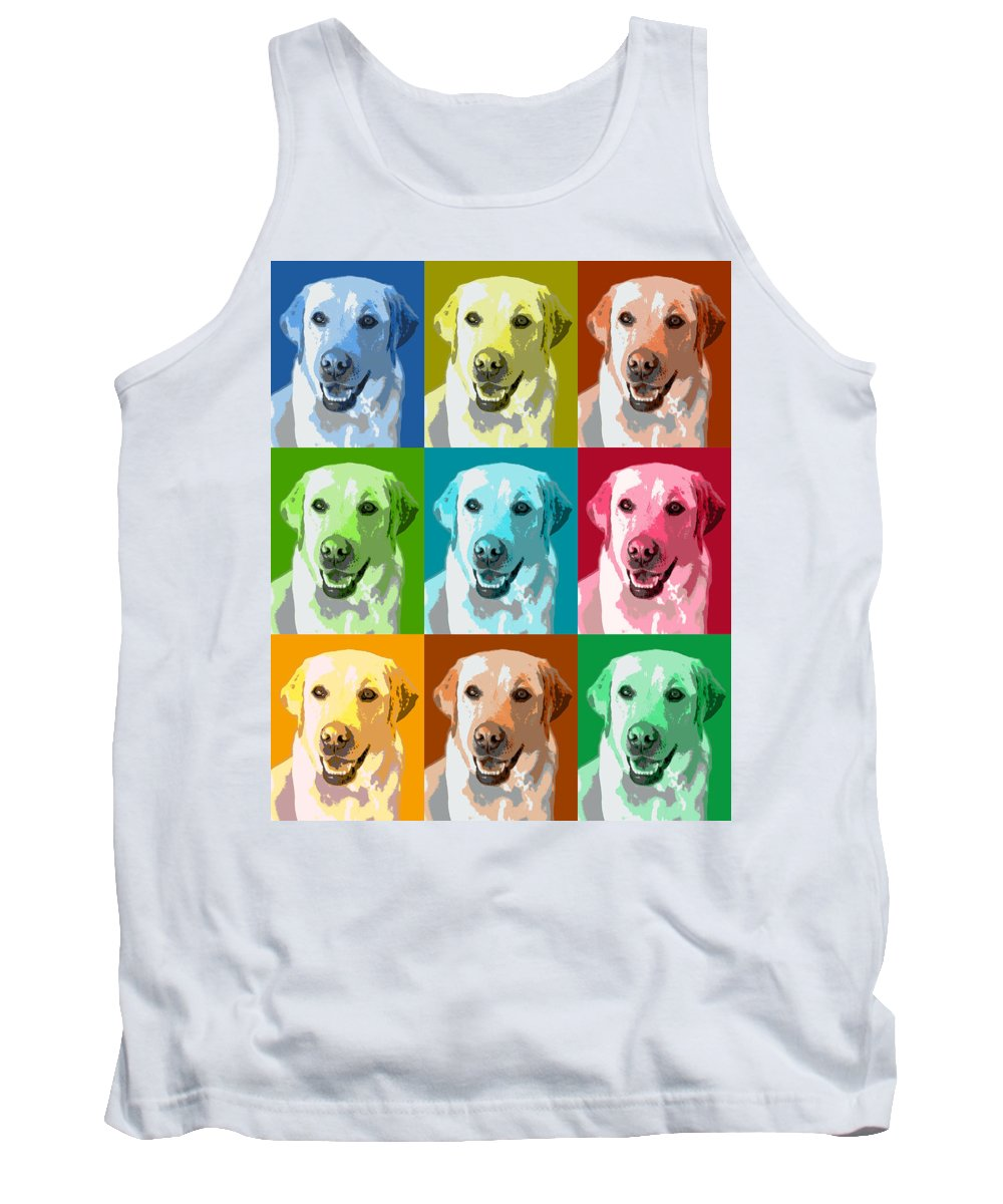Americana Tank Top featuring the photograph Golden Retriever Warhol by Marilyn Hunt