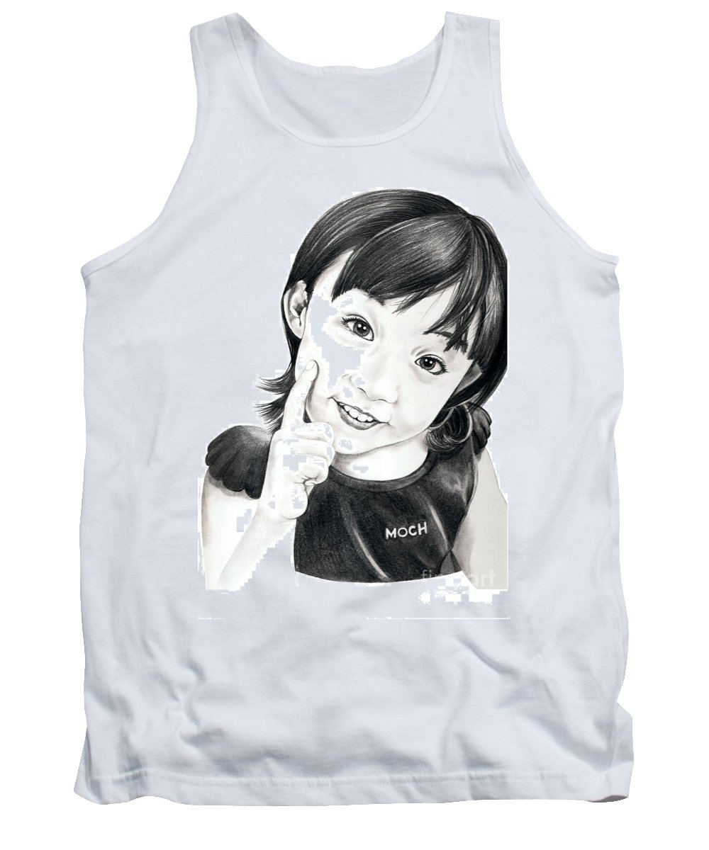 Pencil Tank Top featuring the drawing Moch by Murphy Elliott