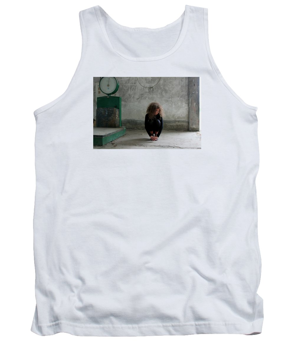 Portraits Tank Top featuring the photograph Modest by Milan Mirkovic