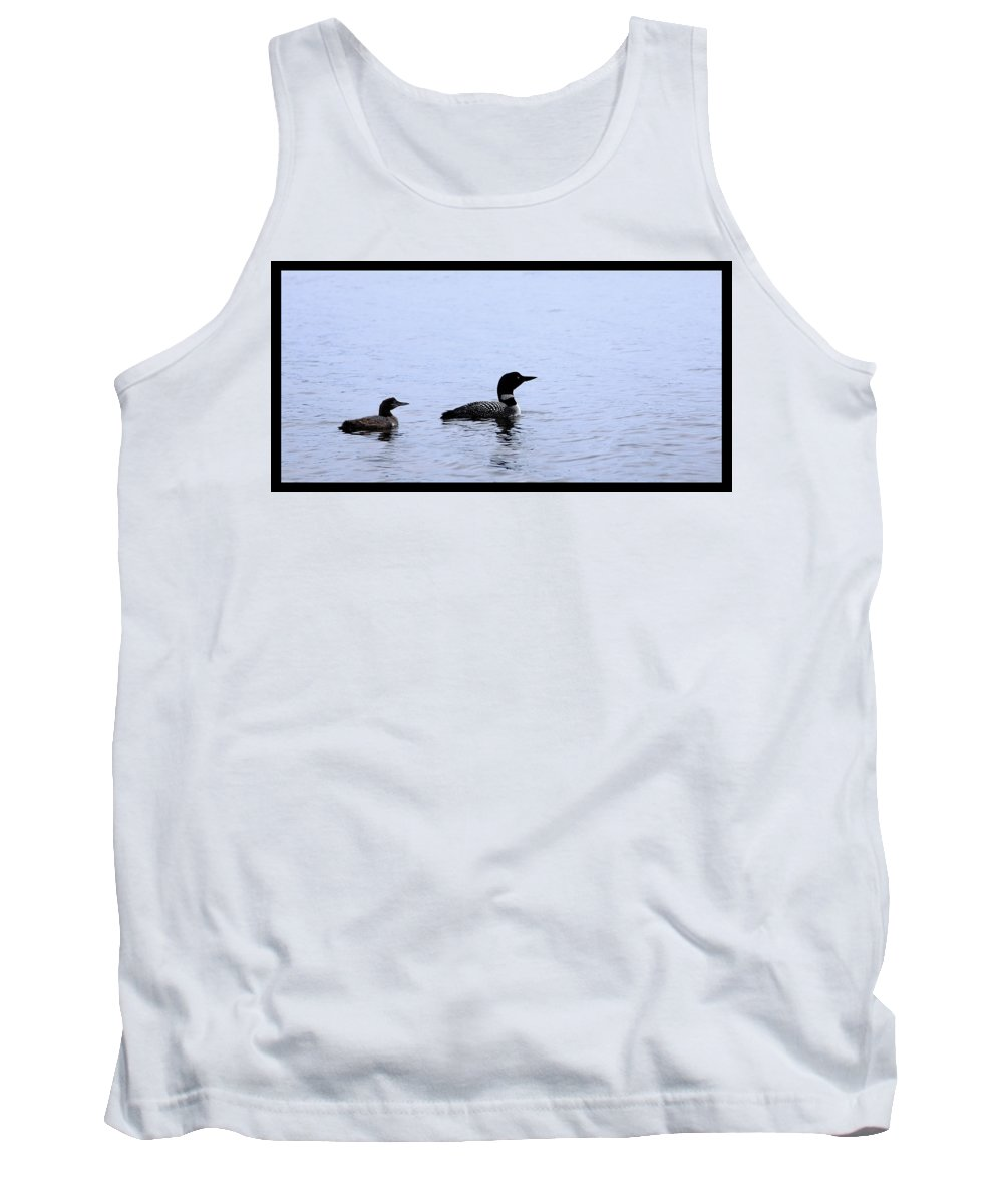 Loon Tank Top featuring the photograph Mom And Baby Loon by Shari Jardina