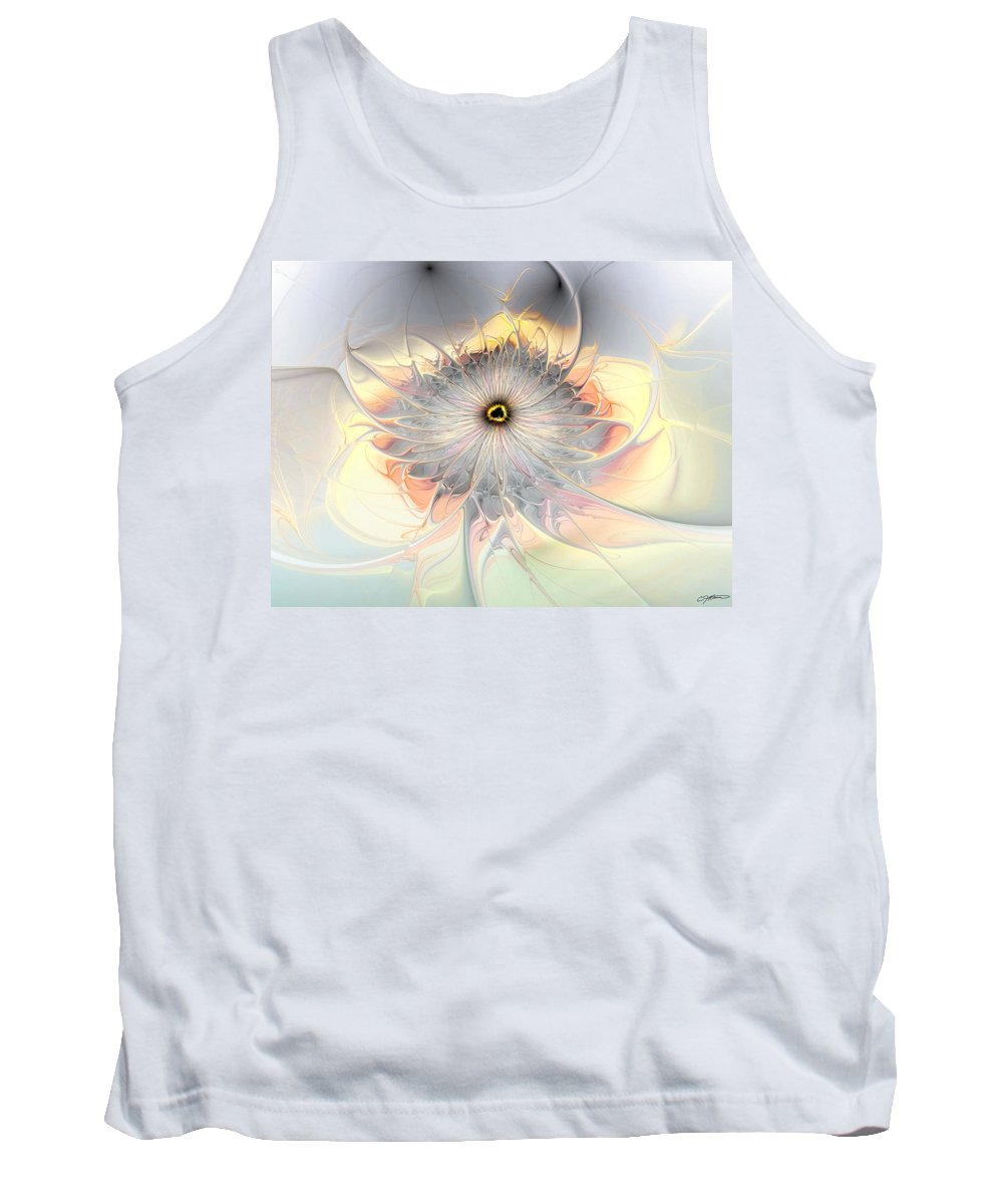Abstract Tank Top featuring the digital art Momentary Intimacy by Casey Kotas