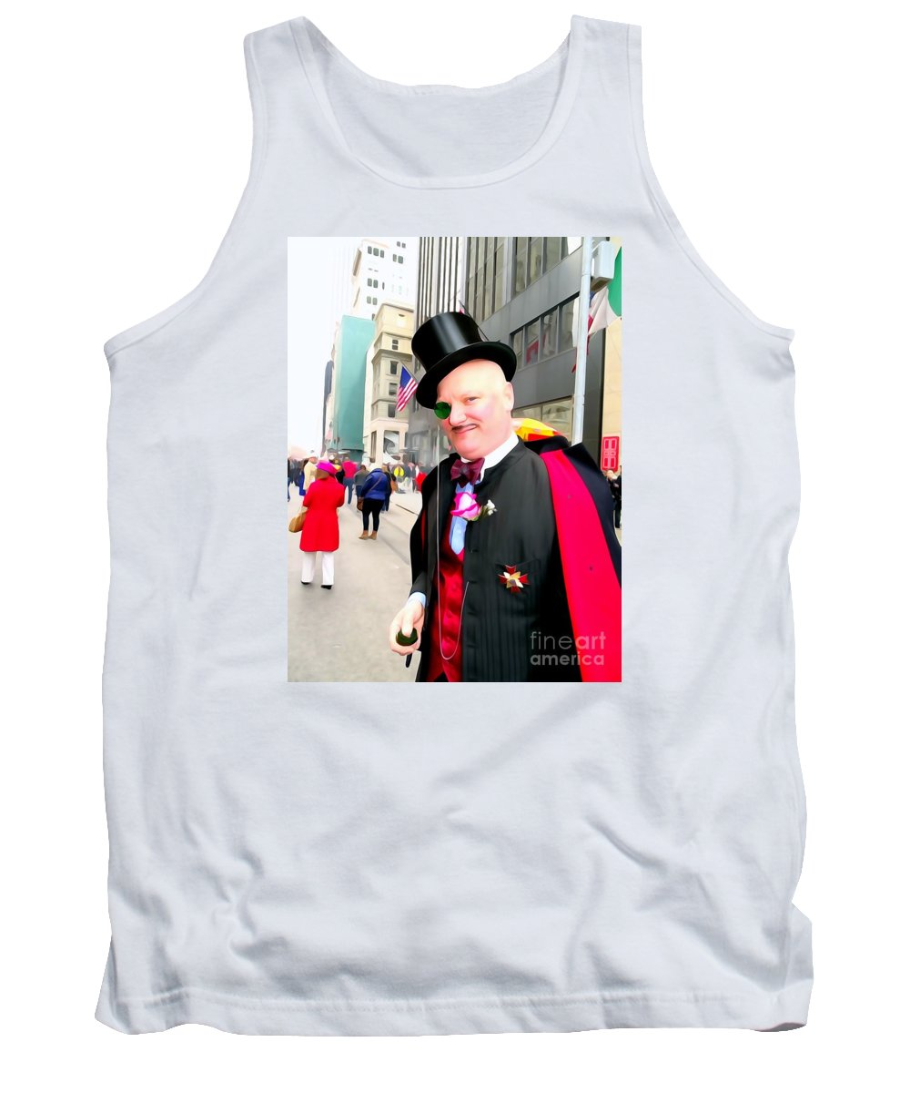Digital Art Tank Top featuring the photograph Monacled And Majestic by Ed Weidman