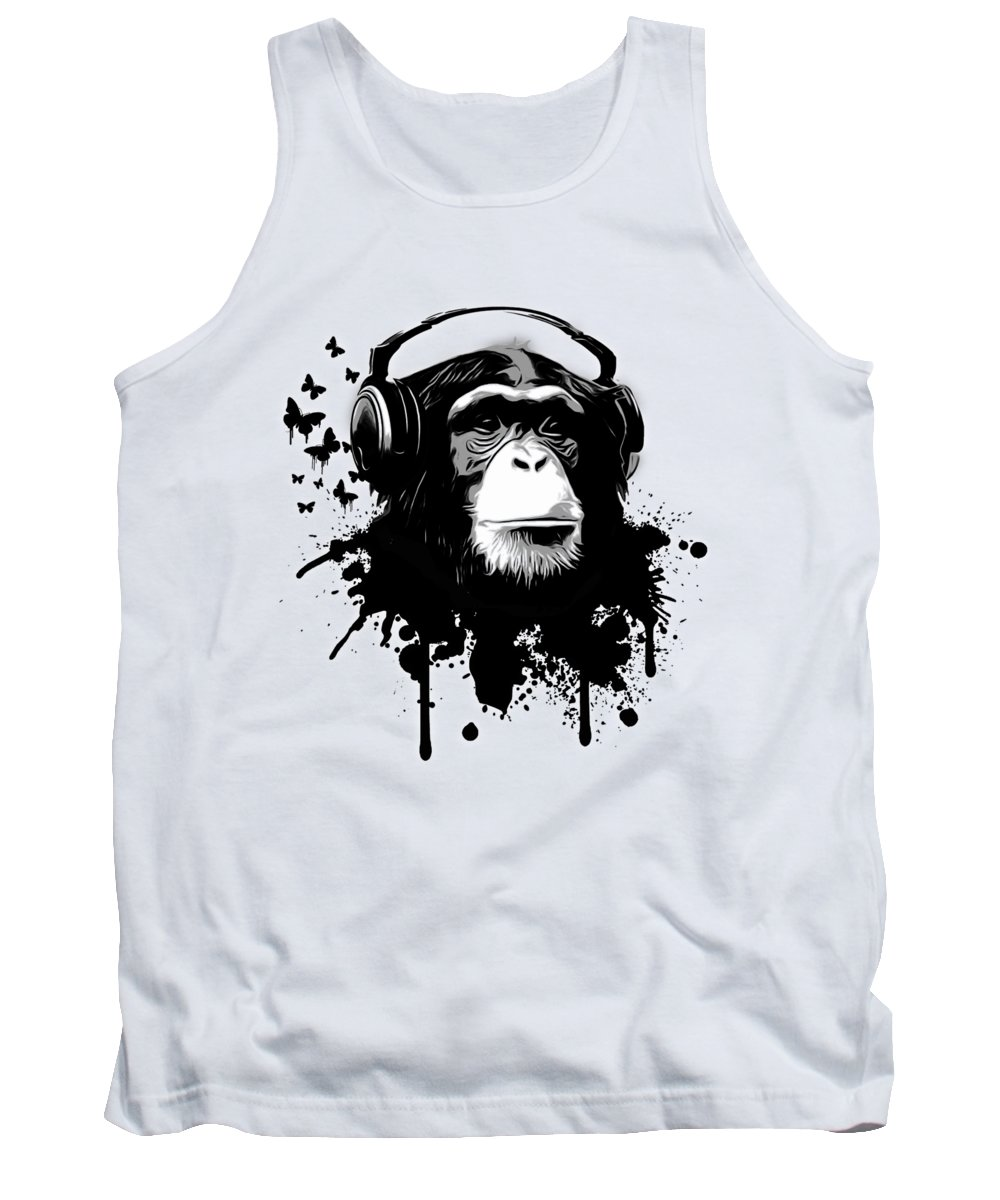 Ape Tank Top featuring the digital art Monkey Business by Nicklas Gustafsson