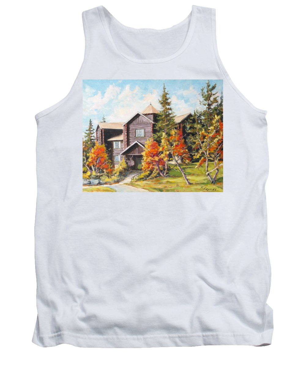 Landscape Tank Top featuring the painting Montebello by Richard T Pranke