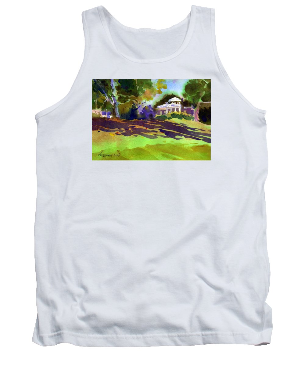 Thomas Jefferson Tank Top featuring the painting Monticello In October by Lee Klingenberg