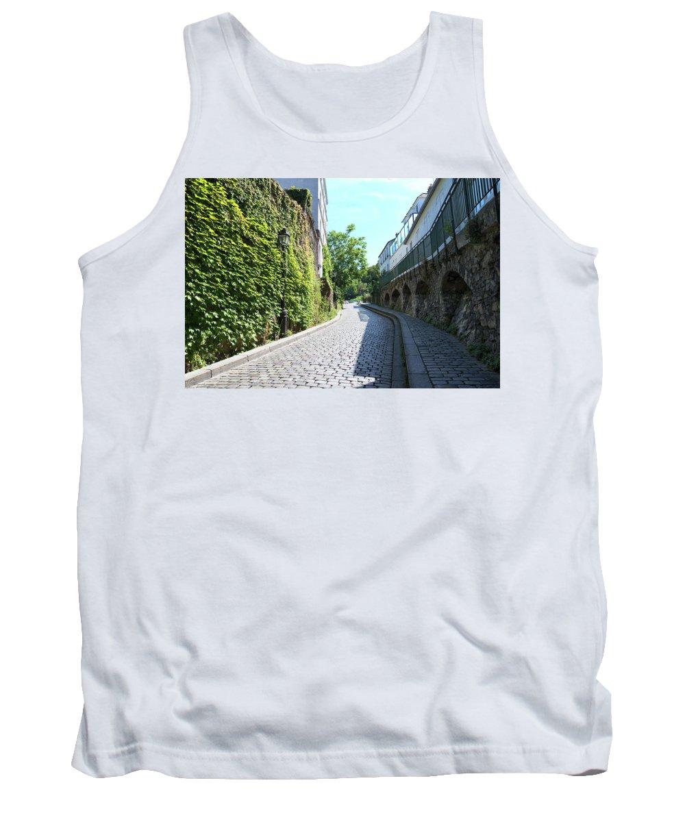 Cobblestones Tank Top featuring the digital art Montmarte Paris Cobblestone Streets by Carol Ailles