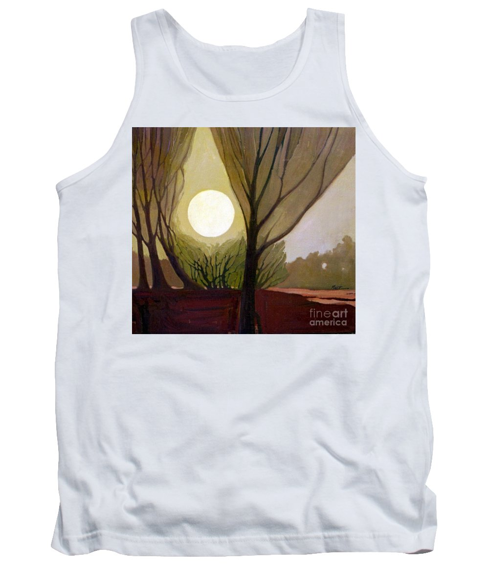 Dreamscape Tank Top featuring the painting Moonlit Dream by Donald Maier