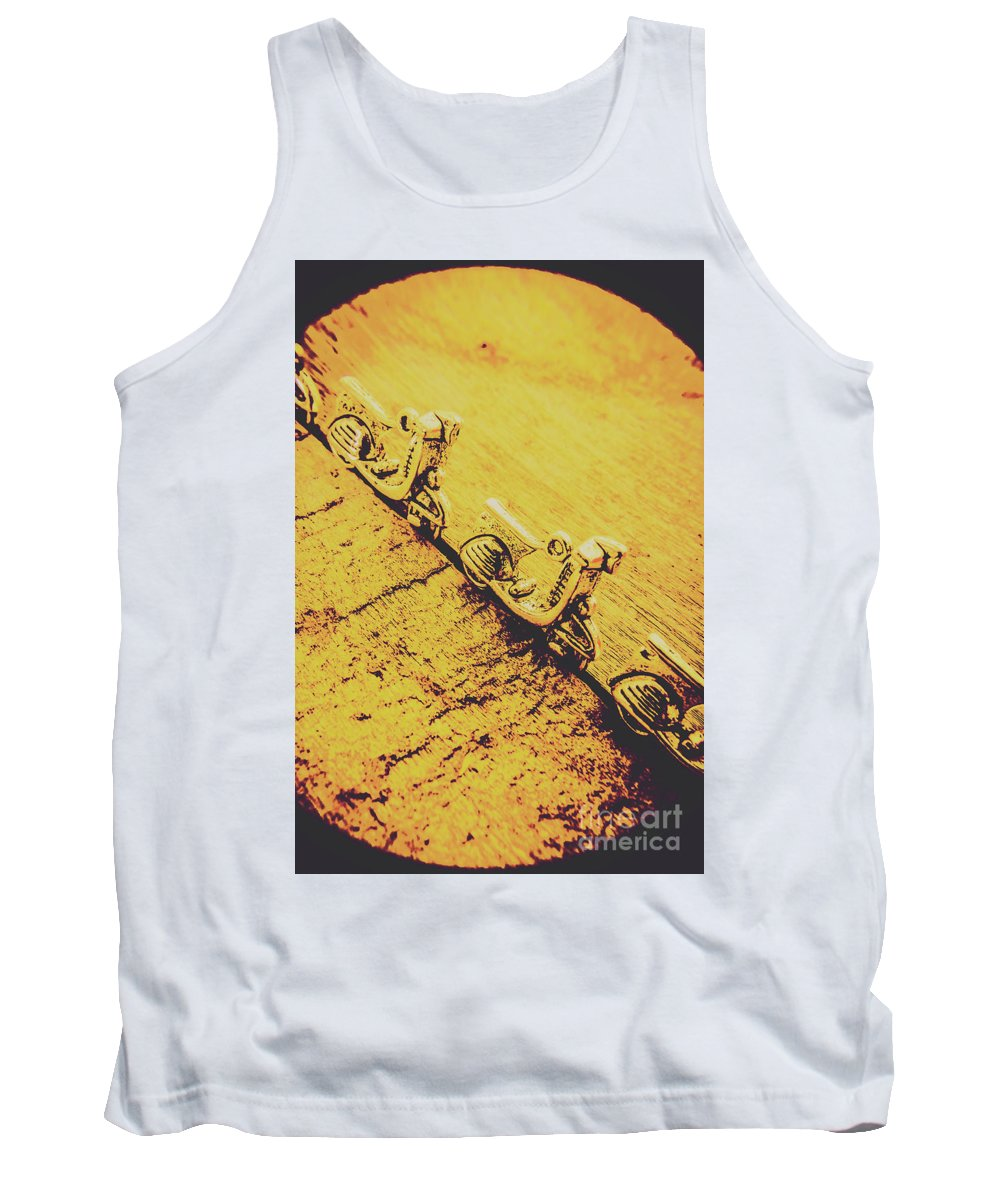 Urban Tank Top featuring the photograph Moped Parking Lot by Jorgo Photography - Wall Art Gallery
