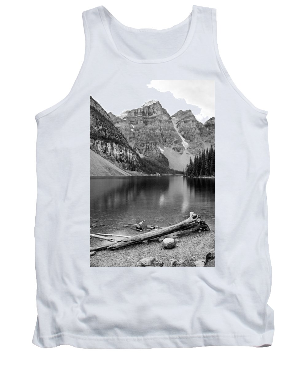 Moraine Lake Tank Top featuring the photograph Moraine Lake by Angie Schutt