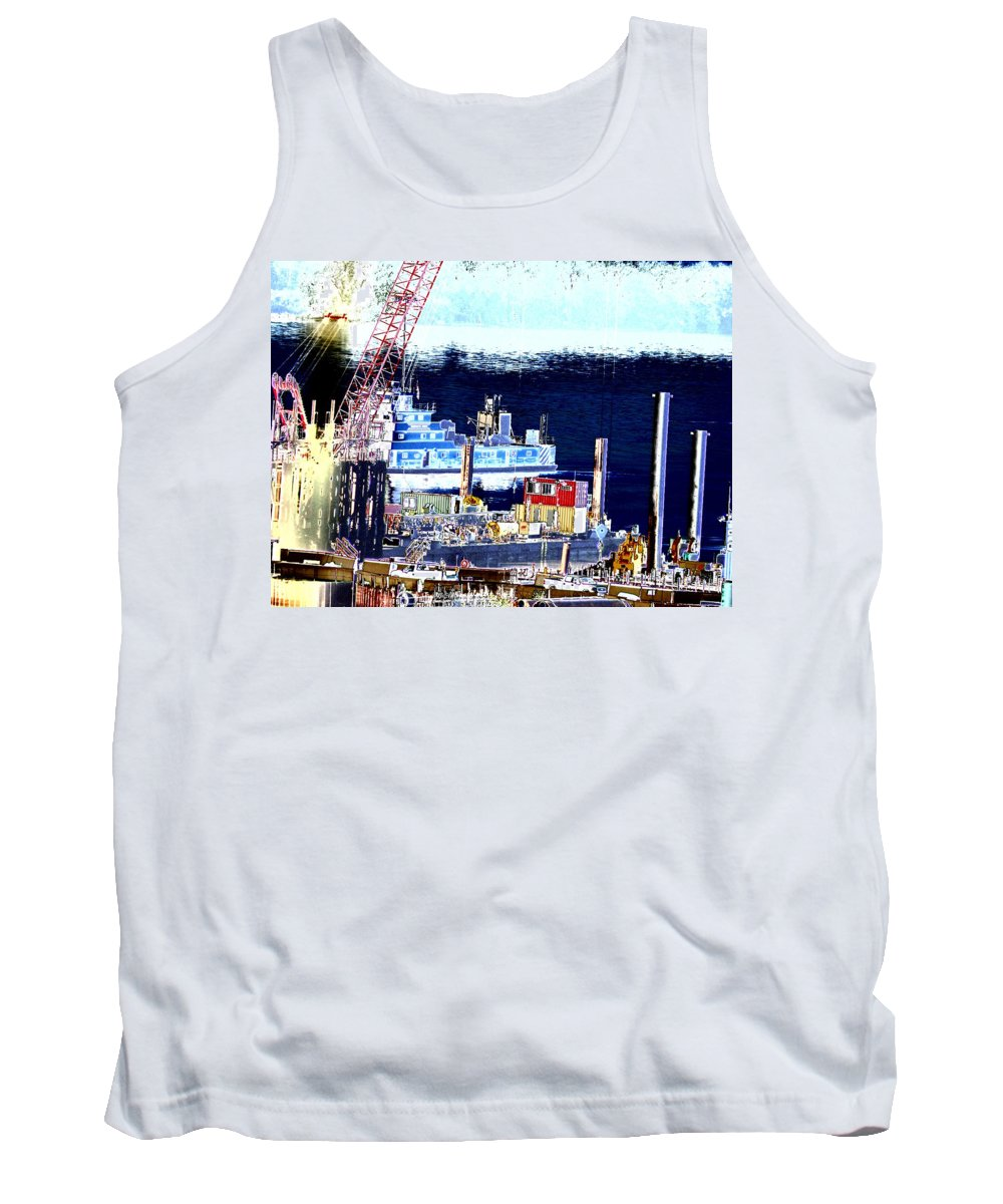 Abstract Tank Top featuring the photograph Morning Blooms by Rachel Christine Nowicki