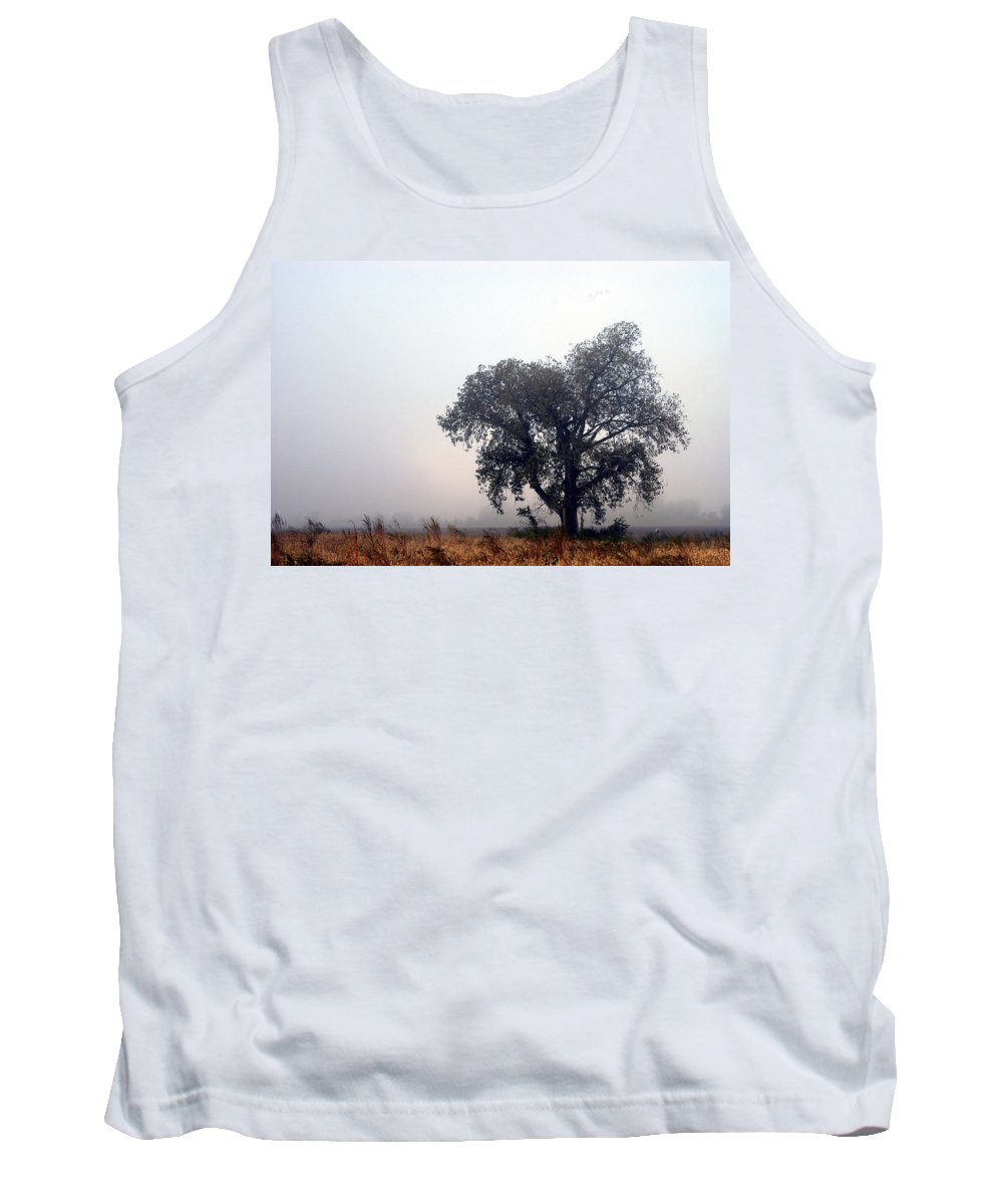 Fog Tank Top featuring the photograph Morning Fog - The Delta by D'Arcy Evans