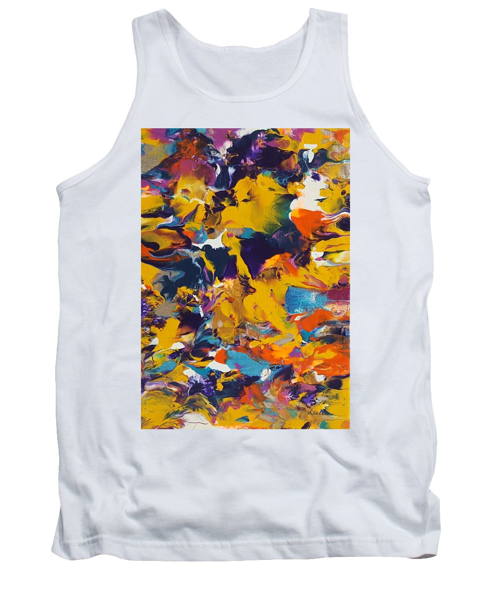 Abstract Painting Tank Top featuring the painting Morning Madness by Leslie Joy Ferguson