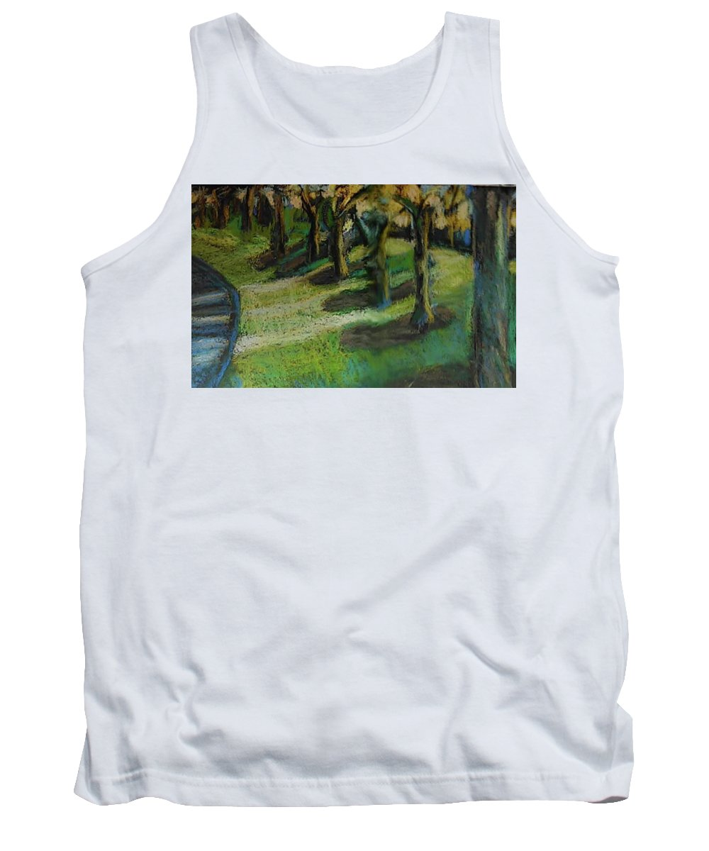 Art Tank Top featuring the pastel Morning Shadows by Katherine Cobb