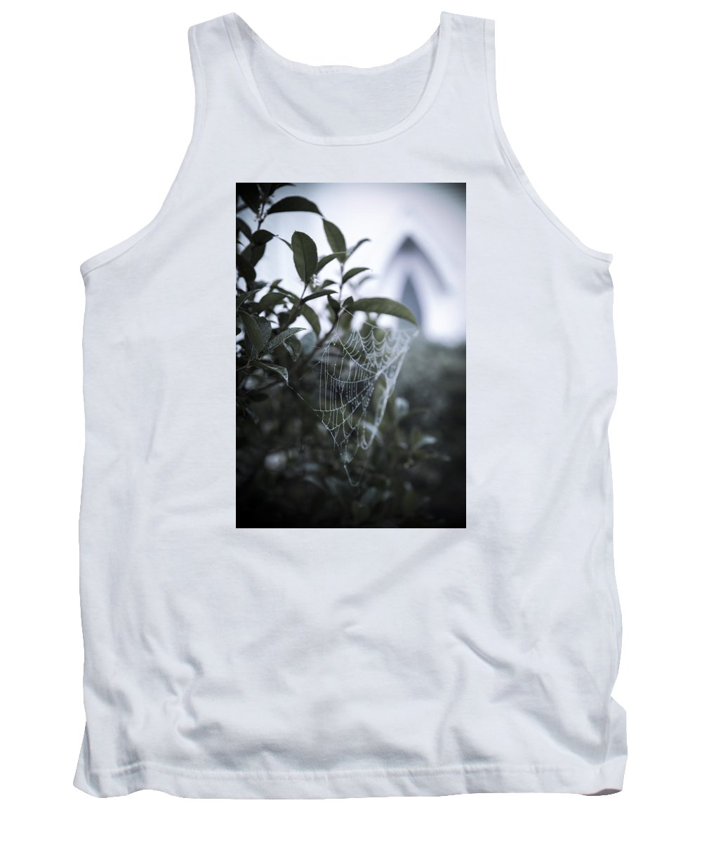 Fauna Tank Top featuring the photograph Morning Web With Dew by Alicia Collins