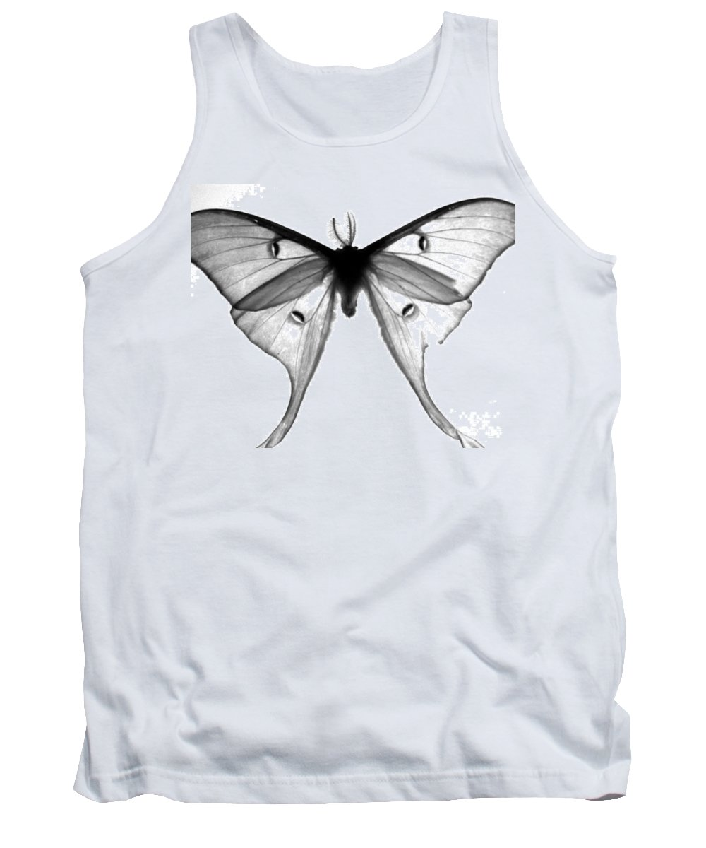 Moth Tank Top featuring the photograph Moth by Amanda Barcon