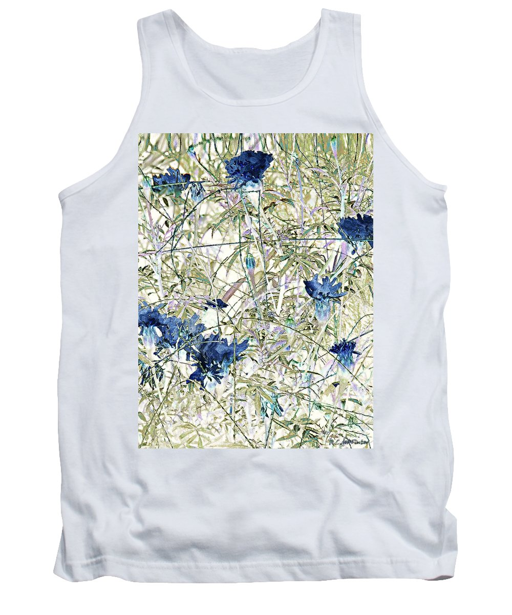 Asian Tank Top featuring the painting Motif Japonica No. 10 by RC DeWinter