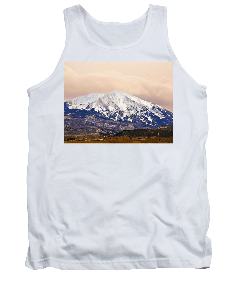 Americana Tank Top featuring the photograph Mount Sopris by Marilyn Hunt