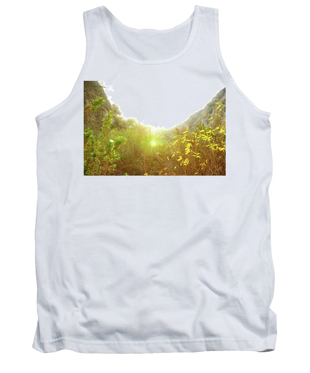 Yellow Tank Top featuring the photograph Mountain Glow by Megan Swormstedt