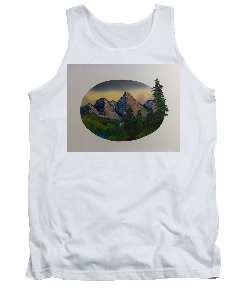 Tank Top featuring the painting Mountain Oval by Shane Stephens