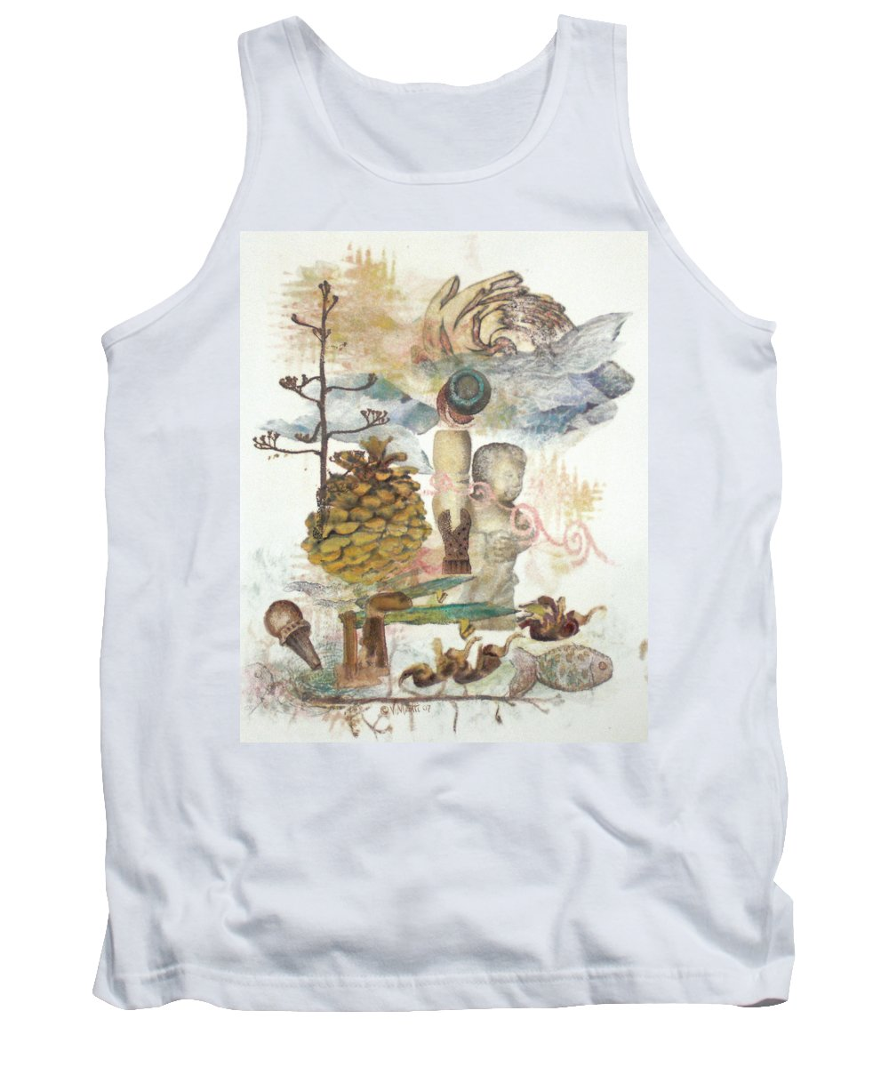 Abstract Tank Top featuring the painting Move Along by Valerie Meotti