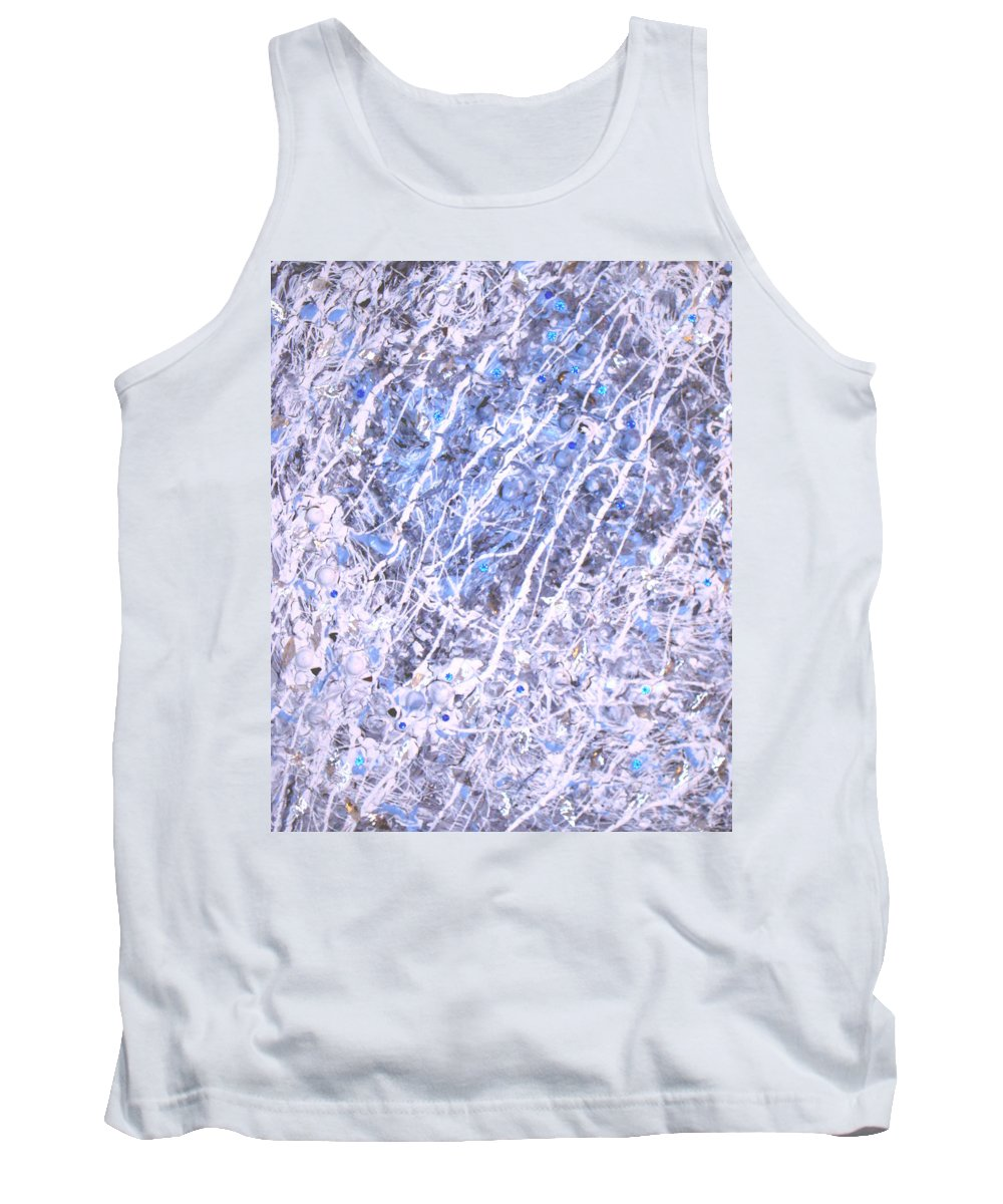 Moveonart! Digital Gallery Tank Top featuring the digital art Moveonart Blue Cool Purifying Soul by Jacob Kanduch
