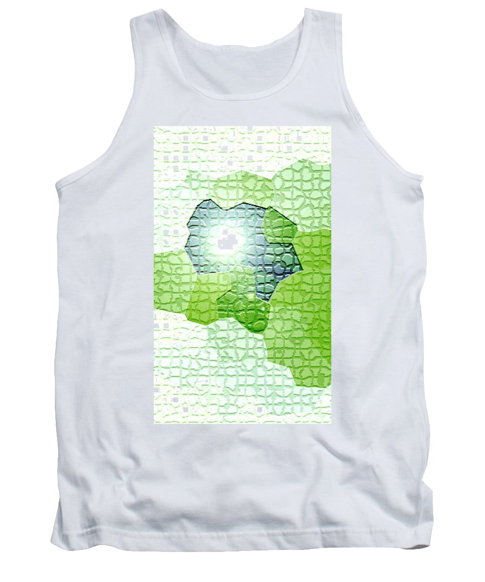 Moveonart! Digital Gallery Tank Top featuring the digital art Moveonart Going Green Is Good by Jacob Kanduch