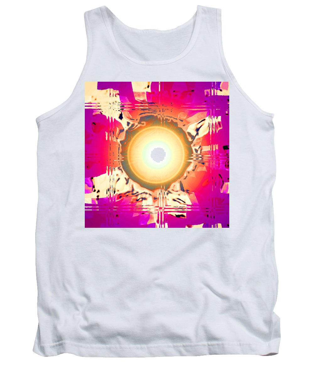 Moveonart! Digital Gallery Tank Top featuring the digital art Moveonart May This Gift Of Light Help You Along Lifes Way by Jacob Kanduch
