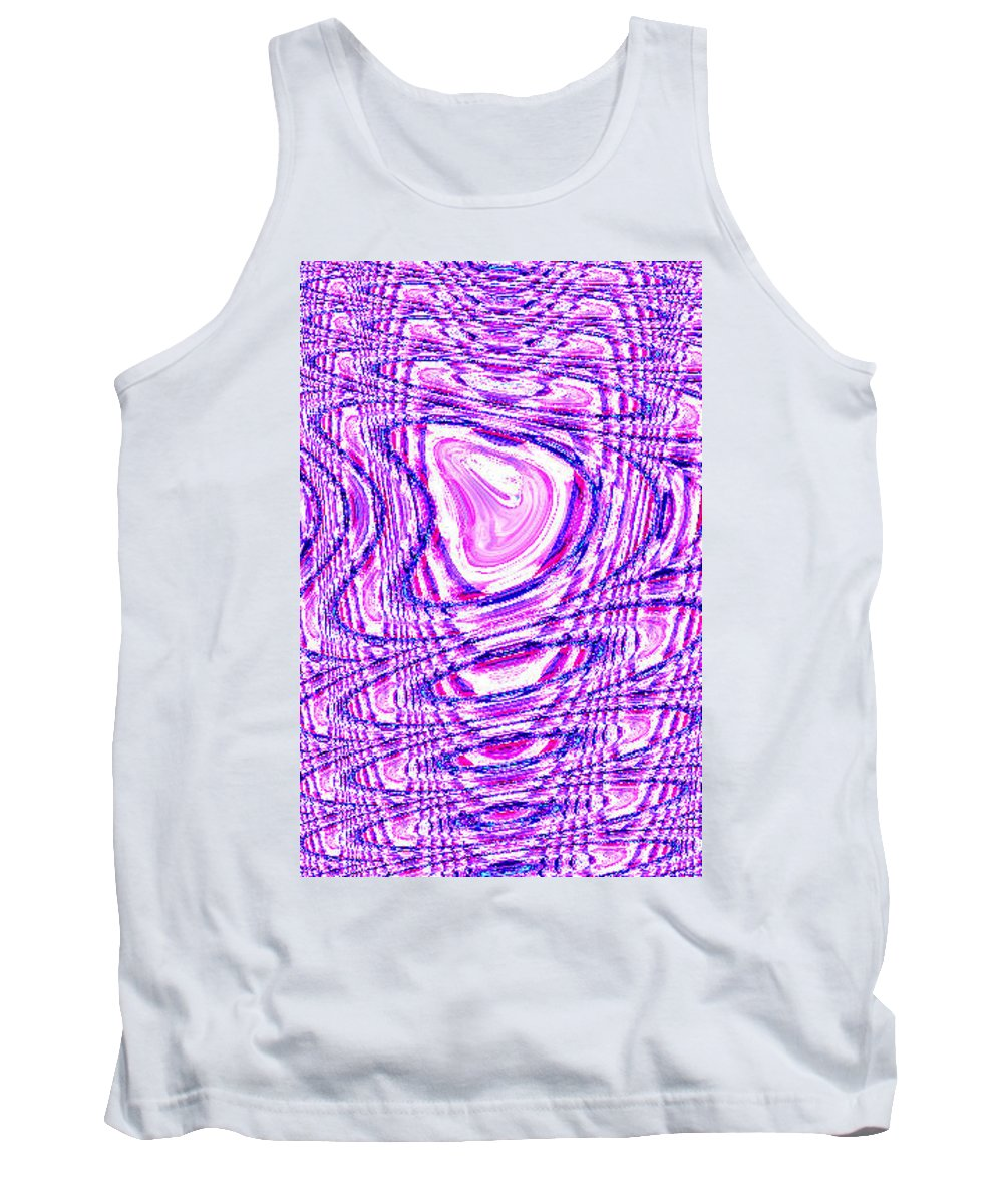 Moveonart! Digital Gallery Tank Top featuring the digital art Moveonart The Art Shall Speak by Jacob Kanduch