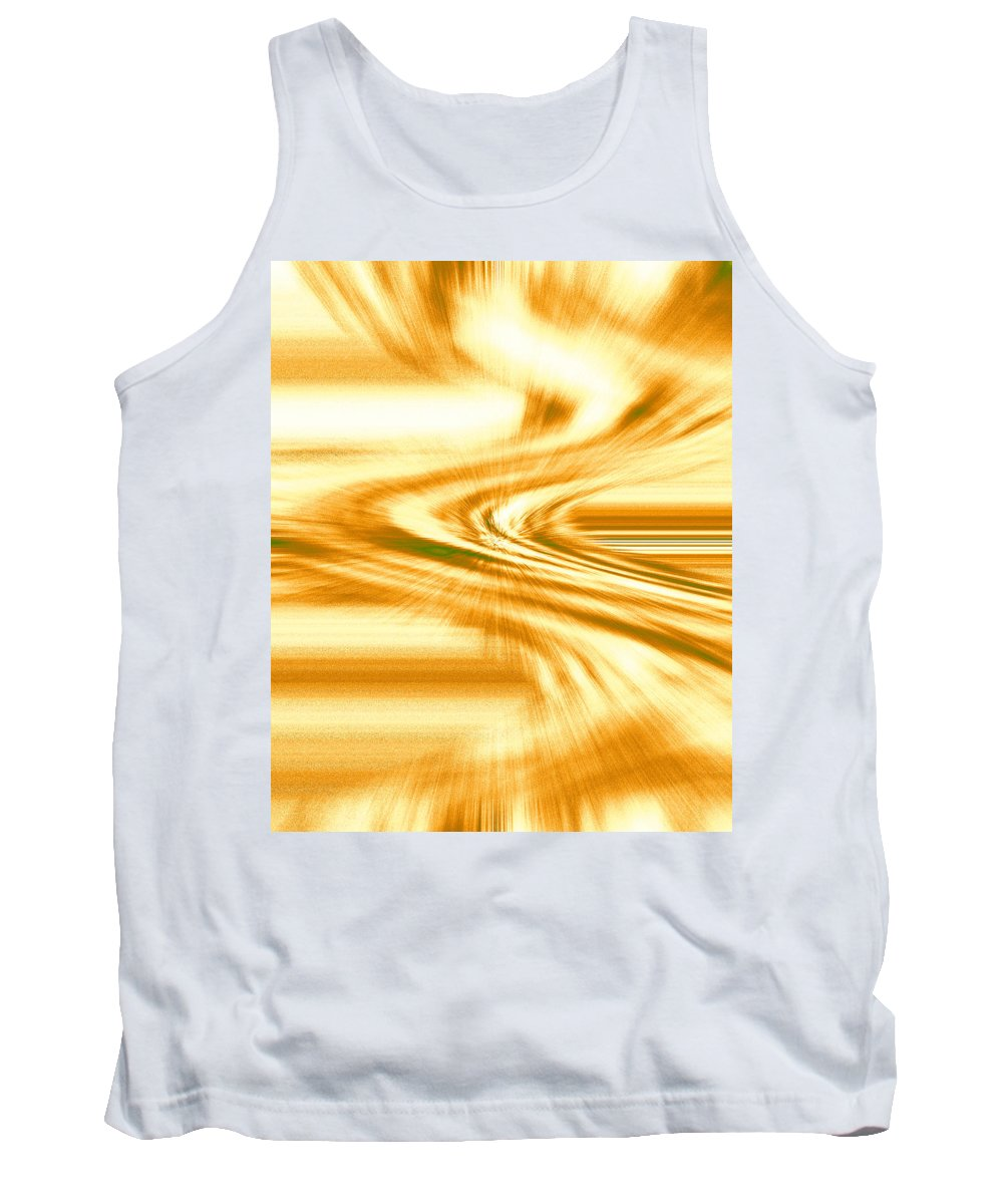 Moveonart! Digital Gallery Tank Top featuring the digital art Moveonart They Say The Streets Are Paved With Gold by Jacob Kanduch