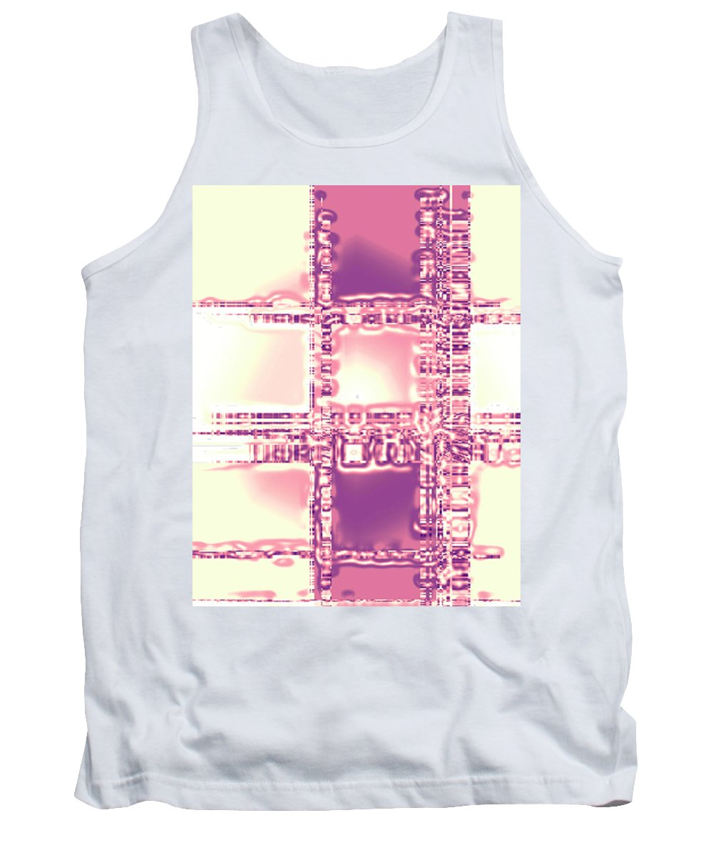 Moveonart! Digital Gallery Tank Top featuring the digital art Moveonart Thoughtful Intersections by Jacob Kanduch
