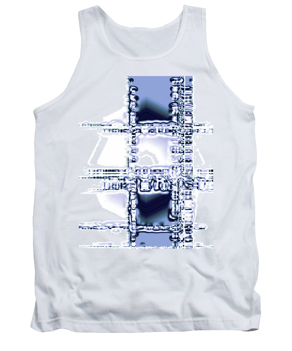Moveonart! Digital Gallery Tank Top featuring the digital art Moveonart Time To Think by Jacob Kanduch