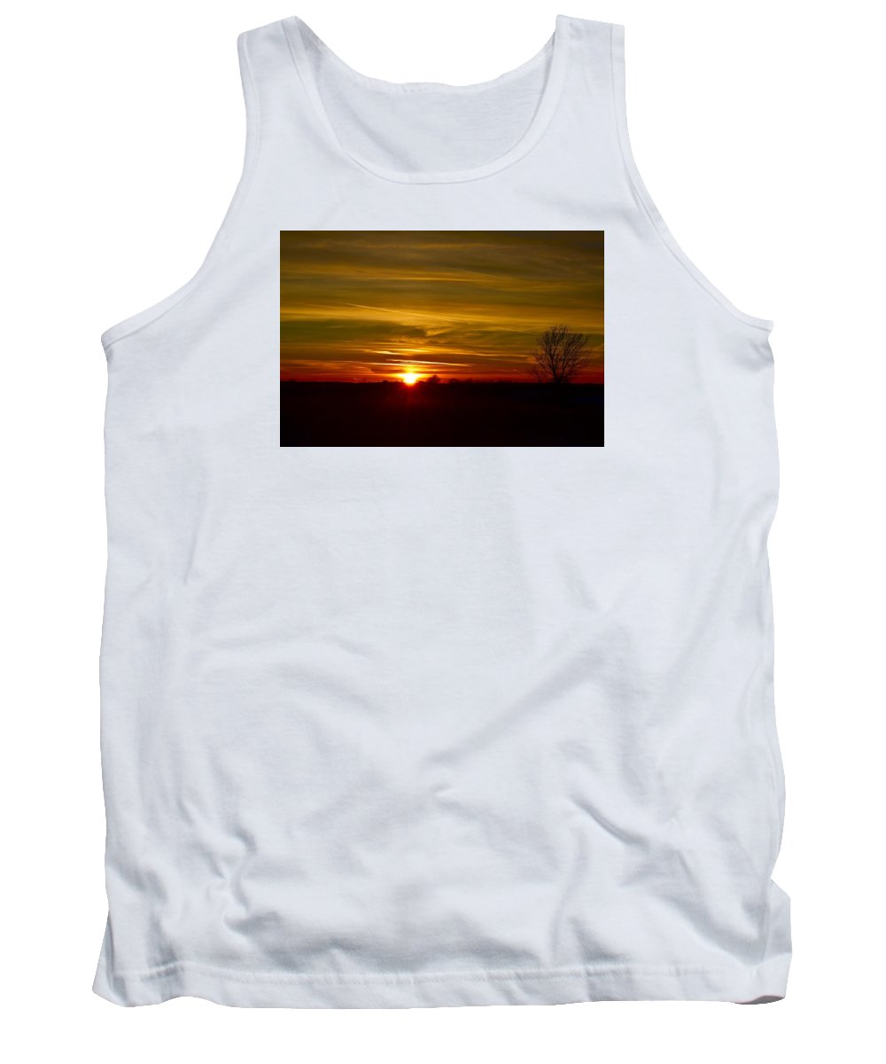 Sun Tank Top featuring the photograph My First 2016 Sunset Photo by Dacia Doroff