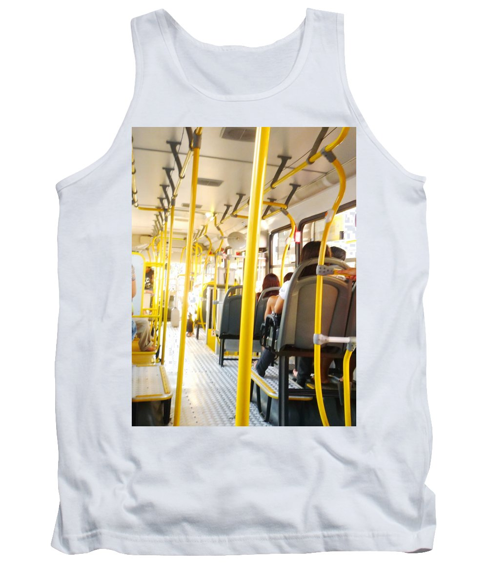 Bus Tank Top featuring the photograph My Lifetime, My Day, My Bus, My Prision by Beto Machado