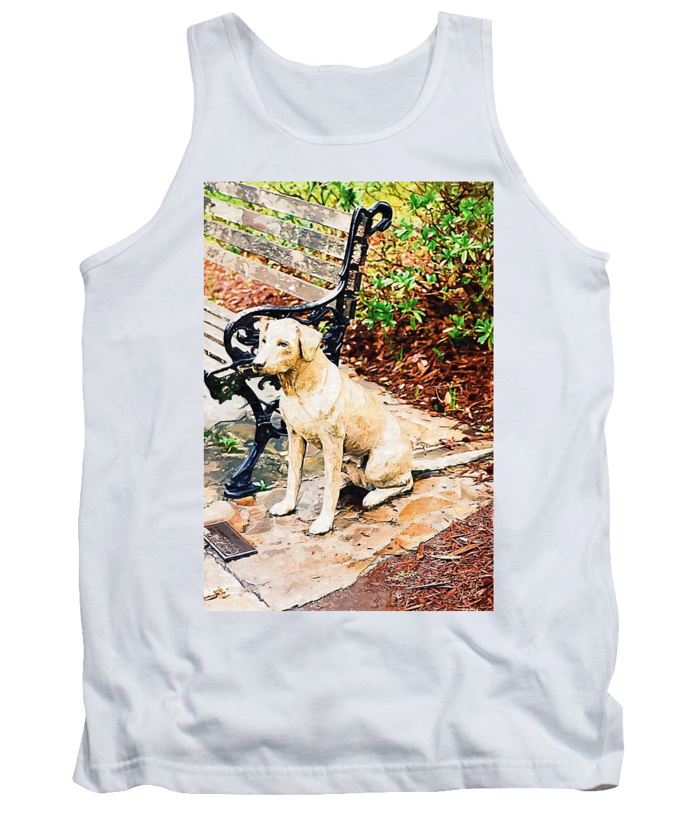 Dog Tank Top featuring the photograph My Pal by Donna Bentley