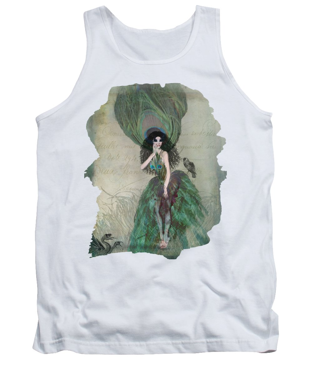 Fantasy Tank Top featuring the digital art Mysterieuse by Terry Fleckney